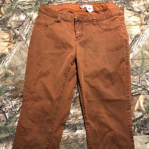 Jennifer Lopez rusty brown jeans